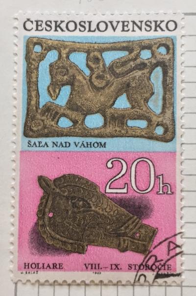 Почтовая марка Чехословакия (Ceskoslovensko) Bronze Belt Ornaments (8.-9th cent.) | Год выпуска 1969 | Код каталога Михеля (Michel) CS 1898