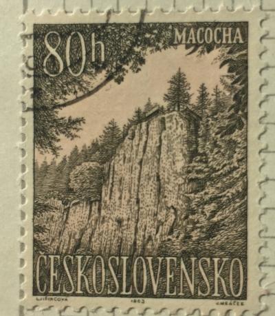 Почтовая марка Чехословакия (Ceskoslovensko ) Macocha mountains | Год выпуска 1963 | Код каталога Михеля (Michel) CS 1421
