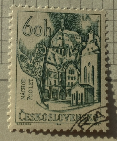 Почтовая марка Чехословакия (Ceskoslovensko ) View of Náchod | Год выпуска 1966 | Код каталога Михеля (Michel) CS 1640