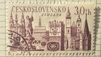 Почтовая марка Чехословакия (Ceskoslovensko ) Jihlava   Год выпуска 1967   Код каталога Михеля (Michel) CS 1677