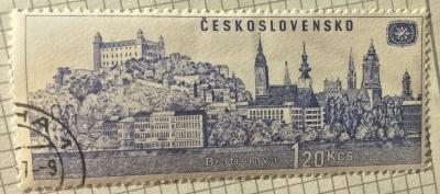 Почтовая марка Чехословакия (Ceskoslovensko ) Bratislava | Год выпуска 1967 | Код каталога Михеля (Michel) CS 1679