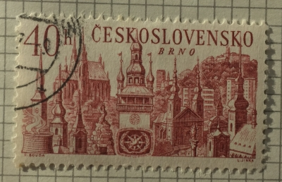 Почтовая марка Чехословакия (Ceskoslovensko ) Brno | Год выпуска 1967 | Код каталога Михеля (Michel) CS 1678