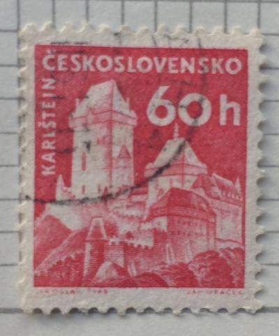 Почтовая марка Чехословакия (Ceskoslovensko ) Kost castle | Год выпуска 1960 | Код каталога Михеля (Michel) CS 1187