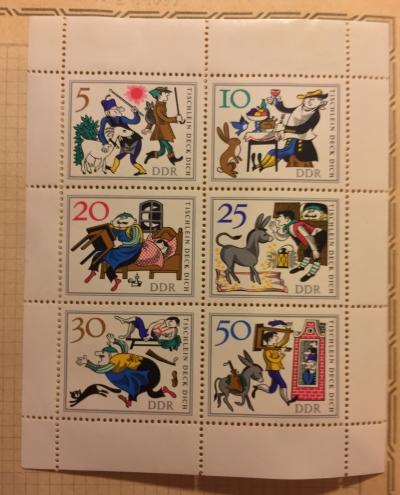 Почтовая марка ГДР (DDR) Fairy Tales | Год выпуска 1966 | Код каталога Михеля (Michel) DD 1236-1241KB