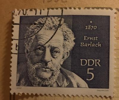 Почтовая марка ГДР (DDR) Barlach, Ernst | Год выпуска 1970 | Код каталога Михеля (Michel) DD 1534