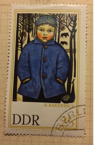 "Почтовая марка ГДР (DDR) ""Peter im Tierpark"" | Год выпуска 1967 | Код каталога Михеля (Michel) DD 1263"