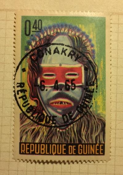 Почтовая марка Гвинея (Republique du Guinee) Native Mask | Год выпуска 1965 | Код каталога Михеля (Michel) GN 275