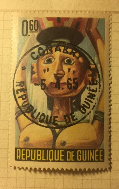 Почтовая марка Гвинея (Republique du Guinee) Boke-Bezirk mask   Год выпуска 1965   Код каталога Михеля (Michel) GN 276