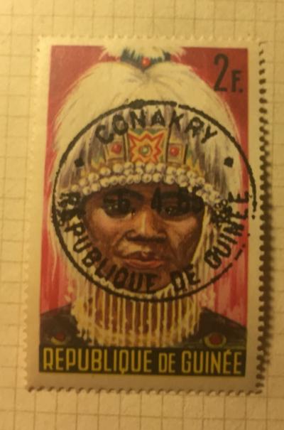 Почтовая марка Гвинея (Republique du Guinee) Native Dancer   Год выпуска 1965   Код каталога Михеля (Michel) GN 279
