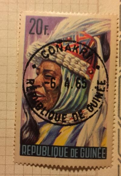 Почтовая марка Гвинея (Republique du Guinee) Native Dancer | Год выпуска 1965 | Код каталога Михеля (Michel) GN 281