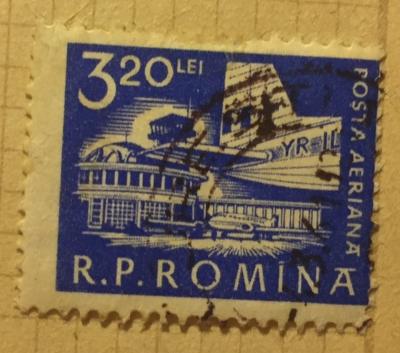 Почтовая марка Румыния (Posta Romana) Airplane at Bucharest Airport | Год выпуска 1960 | Код каталога Михеля (Michel) RO 1889A