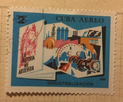 Почтовая марка Куба (Cuba correos) Industrialization   Год выпуска 1966   Код каталога Михеля (Michel) CU 1187