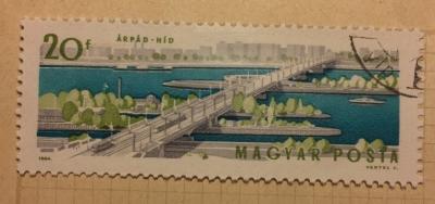 Почтовая марка Венгрия (Magyar Posta) Árpád Bridge | Год выпуска 1964 | Код каталога Михеля (Michel) HU 2071A