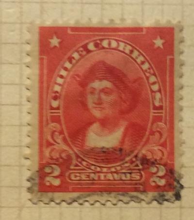 Почтовая марка Чили (Chili correos) Christopher Columbus (1451-1506) | Год выпуска 1911 | Код каталога Михеля (Michel) CL 96