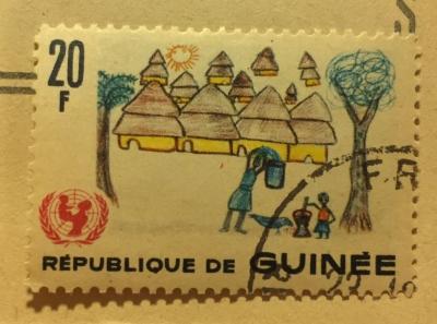 Почтовая марка Гвинея (Republique du Guinee) Dorfidyll | Год выпуска 1966 | Код каталога Михеля (Michel) GN 405