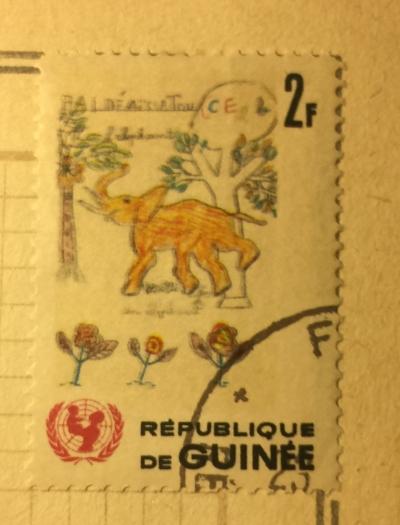 Почтовая марка Гвинея (Republique du Guinee) Elephant | Год выпуска 1966 | Код каталога Михеля (Michel) GN 402