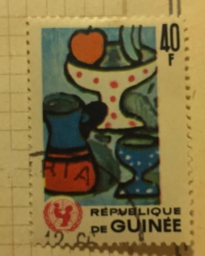 Почтовая марка Гвинея (Republique du Guinee) Fruit still | Год выпуска 1966 | Код каталога Михеля (Michel) GN 407
