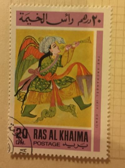 Почтовая марка Рас-Аль-Хайма (Ras al Khaima) The archangel | Год выпуска 1967 | Код каталога Михеля (Michel) RK 172A