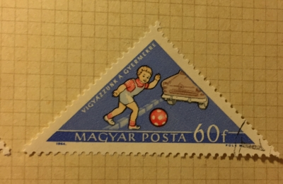 Почтовая марка Венгрия (Magyar Posta) Watch out for children | Год выпуска 1964 | Код каталога Михеля (Michel) HU 2065A