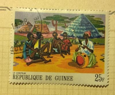 Почтовая марка Гвинея (Republique du Guinee) The Storyteller | Год выпуска 1968 | Код каталога Михеля (Michel) GN 480