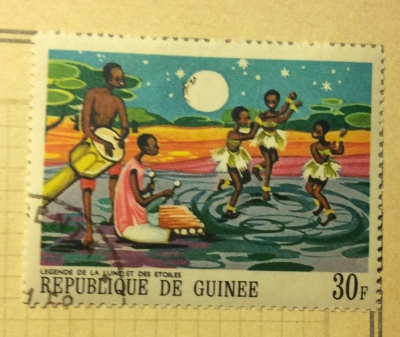 Почтовая марка Гвинея (Republique du Guinee) The Moon and the Stars | Год выпуска 1968 | Код каталога Михеля (Michel) GN 481