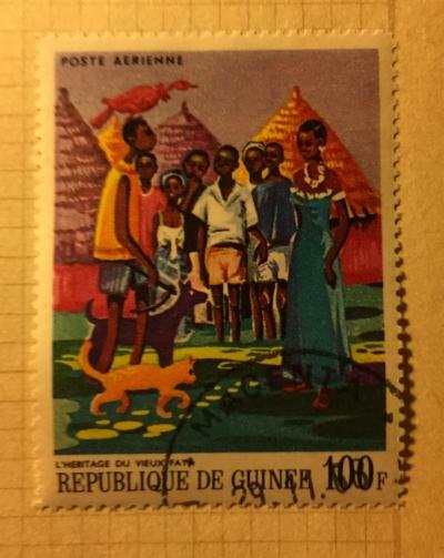 Почтовая марка Гвинея (Republique du Guinee) The Heritage of the old Faya | Год выпуска 1968 | Код каталога Михеля (Michel) GN 484