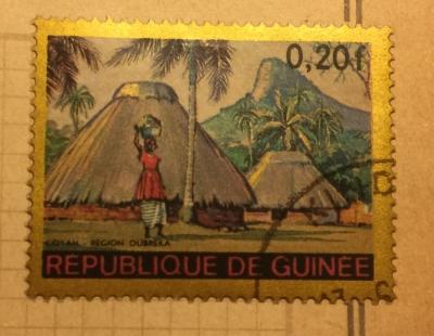 Почтовая марка Республика Гвинея (Rebulique de Guinee) Coyah, Dubréka Region | Год выпуска 1968 | Код каталога Михеля (Michel) GN 468