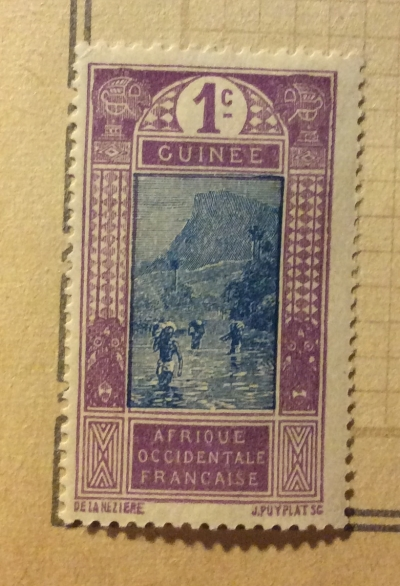 Почтовая марка Гвинея (Republique du Guinee) Ford of Kitim   Год выпуска 1913   Код каталога Михеля (Michel) FR-GU 63