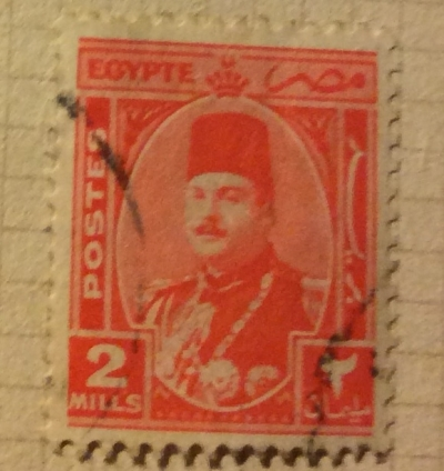 Почтовая марка Египет (Postes Egypte) King Farouk (1920-1965)   Год выпуска 1927   Код каталога Михеля (Michel) EG 269