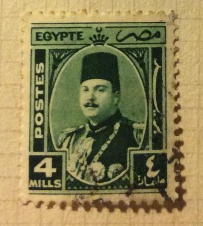 Почтовая марка Египет (Postes Egypte) King Farouk | Год выпуска 1927 | Код каталога Михеля (Michel) EG-PS 6