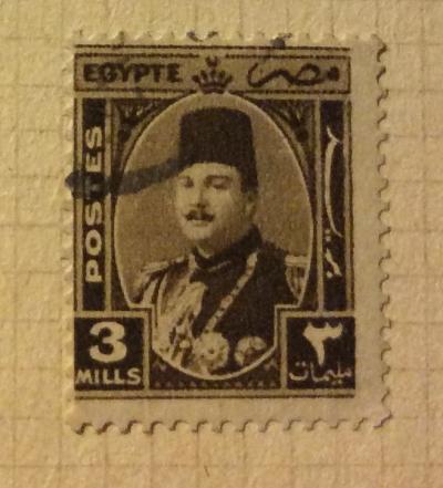 Почтовая марка Египет (Postes Egypte) King Farouk (1920-1965) | Год выпуска 1927 | Код каталога Михеля (Michel) EG 270