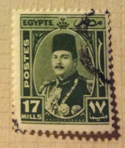 Почтовая марка Египет (Postes Egypte) King Farouk (1920-1965) | Год выпуска 1927 | Код каталога Михеля (Michel) EG 275
