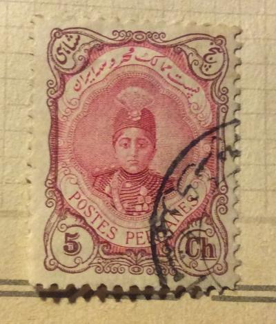 Почтовая марка Иран (Postes Persanes) Ahmad Shāh Qājār (1897-1930) | Год выпуска 1913 | Код каталога Михеля (Michel) IR 308