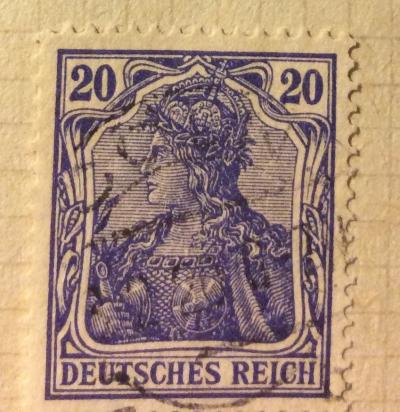 "Почтовая марка Германия (Deutiches Reich) Germania - Inscription ""DEUTSCHES REICH"" | Год выпуска 1902 | Код каталога Михеля (Michel) DR 72"