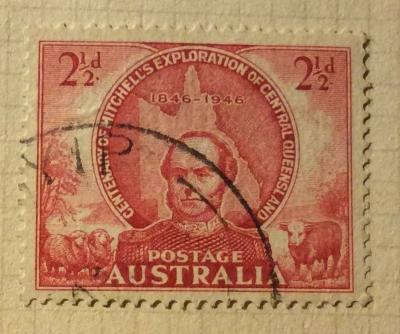 Почтовая марка Австралия (Postage Australia) Thomas Mitchell | Год выпуска 1946 | Код каталога Михеля (Michel) AU 176