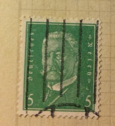 Почтовая марка Германия (Deutiches Reich) Paul von Hindenburg (1847-1934), 2nd President | Год выпуска 1928 | Код каталога Михеля (Michel) DR 411