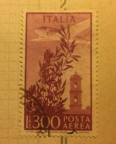 Почтовая марка Италия (Poste Italiane) Aircraft over Rome | Год выпуска 1948 | Код каталога Михеля (Michel) IT 764