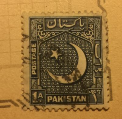 Почтовая марка Пакистан (Pakistan postage) Crescent and Star (NW) | Год выпуска 1949 | Код каталога Михеля (Michel) PK 47A