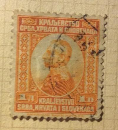 Почтовая марка Королевство Сербия King Peter I, Karadordevic (1844-1921) | Год выпуска 1921 | Код каталога Михеля (Michel) YU 154