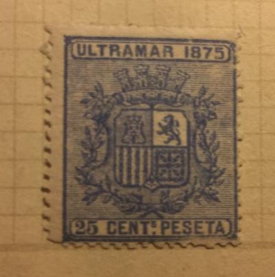 Почтовая марка Куба (Cuba correos) Coat of Arms | Год выпуска 1875 | Код каталога Михеля (Michel) ES-CU 10
