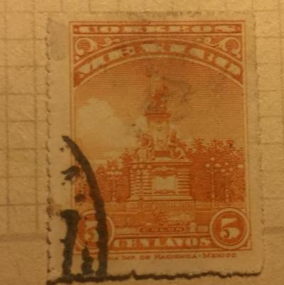 Почтовая марка Мексика (Mexico correos) Columbus Monument | Год выпуска 1923 | Код каталога Михеля (Michel) MX 565