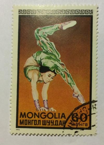 Почтовая марка Монголия - Монгол шуудан (Mongolia) Acrobat | Год выпуска 1973 | Код каталога Михеля (Michel) MN 762