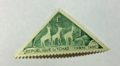 Почтовая марка Чад (Republique du Tchad) Antelopes | Год выпуска 1962 | Код каталога Михеля (Michel) TD P25