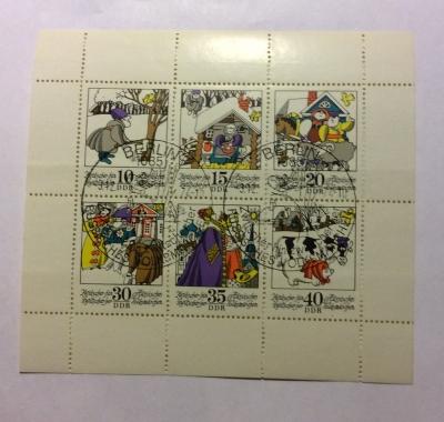 Почтовая марка ГДР (DDR) Fairy Tales, mini-sheet | Год выпуска 1974 | Код каталога Михеля (Michel) DD 1995-2000KB