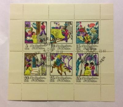 Почтовая марка ГДР (DDR) Fairy tales | Год выпуска 1974 | Код каталога Михеля (Michel) DD 1801-1806KB