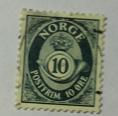 Почтовая марка Норвегия (Norge postfrim) Post horn   Год выпуска 1950   Код каталога Михеля (Michel) NO 353