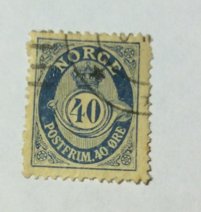 Почтовая марка Норвегия (Norge postfrim) Posthorn 'NORGE' in Roman Capitals | Год выпуска 1921 | Код каталога Михеля (Michel) NO 103