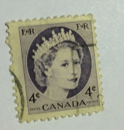 Почтовая марка Канада (Canada postage) Queen Elizabeth II | Год выпуска 1962 | Код каталога Михеля (Michel) CA 293Ay