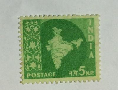 Почтовая марка Индия (India postage) Map of India | Год выпуска 1957 | Код каталога Михеля (Michel) IN 262