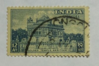Почтовая марка Индия (India postage) Golden Temple, Amritsar | Год выпуска 1949 | Код каталога Михеля (Michel) IN 201